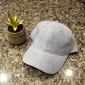 Collection Eighteen Light Blue Hat with Suede Feel